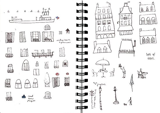 Paris sketches page 2 by nic squirrell