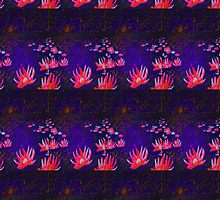 Lotus Flowers at Sunset - Design 1 by Kevin J Cooper