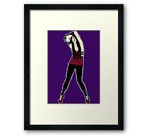 Punk Rock chick Framed Print
