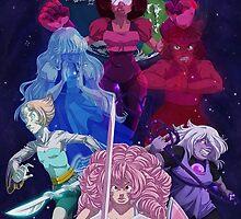 Crystal Gem Warriors by TehArtMonkey