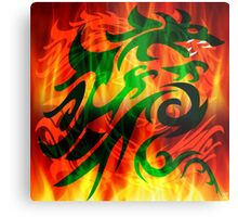 DRAGON IN FLAME Metal Print