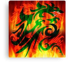 DRAGON IN FLAME Canvas Print