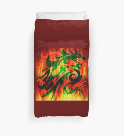 DRAGON IN FLAME Duvet Cover