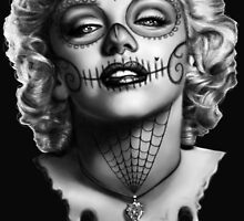 Marilyn Manroe Sugar Skull by ShayneoftheDead