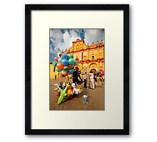 The Zocalo in San Cristobal de las Casas in Chiapas Mexico Framed Print
