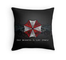 Umbrella Corporation Logo Throw Pillow