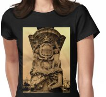 Whitehall Roundabout Statue_Sepia Womens Fitted T-Shirt