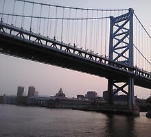 Ben Franklin Bridge by Jrose6
