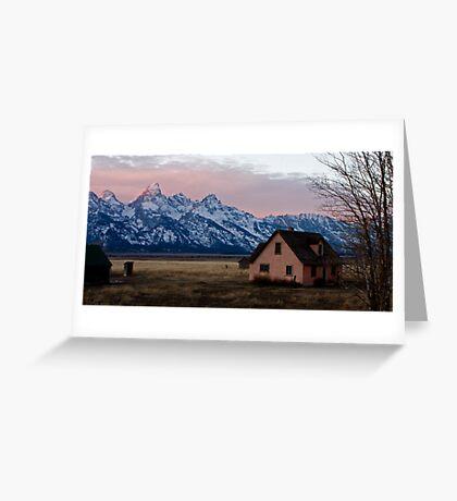 Peach House, Mormon Row, Tetons Greeting Card