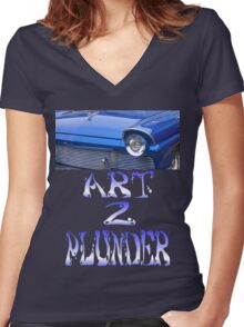 Classics 5-Blue Women's Fitted V-Neck T-Shirt