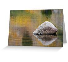 Sinks Canyon, Fall Reflection Greeting Card
