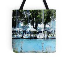 Sailboats At Belle Isle Tote Bag