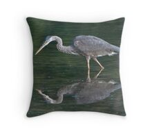 Heron at First Light Throw Pillow
