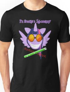 Pr. Sparkle's Laboratory - with text, black BG Unisex T-Shirt