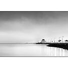St Kilda Pier B&amp;W by Kirk  Hille