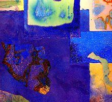 Cobalt Collage by Dana Roper