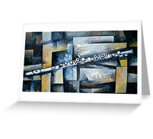 Still-Life with Flute. Greeting Card