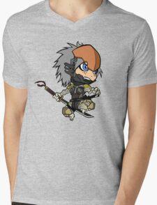 Chibi Raiden Mens V-Neck T-Shirt