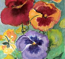 Pansy Garden by Marsha Woods