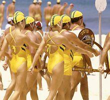 Australian beach life savers by Brian McInerney