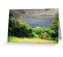 St. Bart's ocean view caribbean Greeting Card