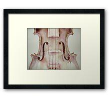 G D A E notes on a violin © 2009 patricia vannucci  Framed Print