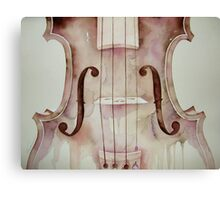 G D A E notes on a violin © 2009 patricia vannucci  Canvas Print