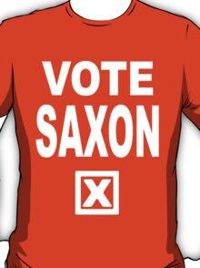Vote Saxon [White Lettering] T-Shirt