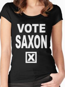 Vote Saxon [White Lettering] Women's Fitted Scoop T-Shirt