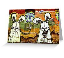 Graffiti Bunnies Greeting Card