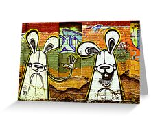 Graffiti Bunnies Greeting Card
