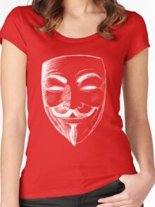 V for Vendetta (Inverted Colors) Women's Fitted Scoop T-Shirt