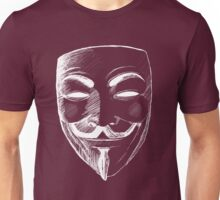 V for Vendetta (Inverted Colors) Unisex T-Shirt