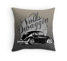 "Volks ""Swaggin"" Beetle © Throw Pillow"