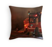 Red And Smoke Throw Pillow