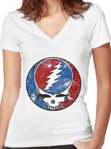 Dead Head Women's Fitted V-Neck T-Shirt
