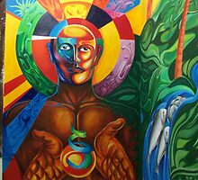 """MURAL """"TEMPOAL, HISTORY AND TRADITION"""" by Ehivar Flores Herrera"""