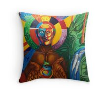 """MURAL """"TEMPOAL, HISTORY AND TRADITION"""" Throw Pillow"""