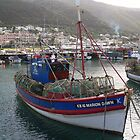 Crayfish trawler in Kalk Bay by Riaan Hefer