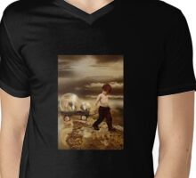 thought  EARTH WAS FLAT Mens V-Neck T-Shirt