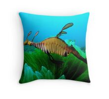 The unicorn of the ocean Throw Pillow