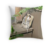 Deck Shoes Throw Pillow