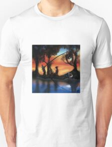 Rotating ART! two pics in one! fishing and gathering/Dali T-Shirt