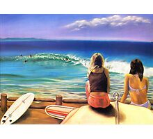 surfing wategos Byron Bay Photographic Print