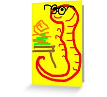 Billy Bookworm Greeting Card