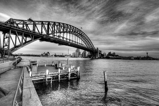 The Bridge - A Study In Black and White - The HDR Experience by Philip Johnson