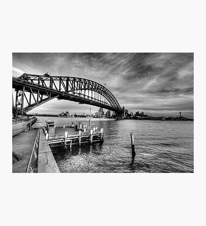 The Bridge - A Study In Black and White - The HDR Experience Photographic Print