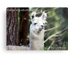 Fed up with advertising? Metal Print