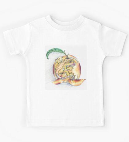 Crested Gecko Peach Kids Tee