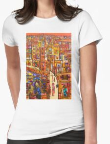 Into the evening Womens Fitted T-Shirt